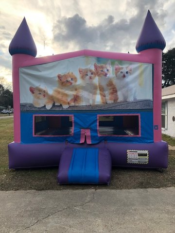 Kitty Cat Fun Jump With Basketball Goal (Pink)