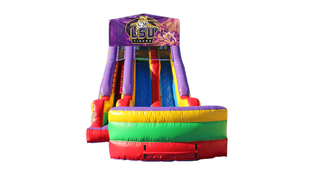 LSU Tigers 18' Double Lane Dry Slide