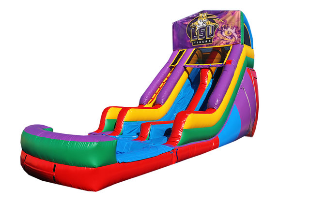 LSU Tigers 18' Double Lane Water Slide