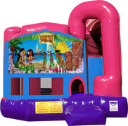 Hawaiian Luau 3N1 Inflatable Combo Fun Jump (Pink)
