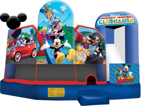 A Mickey Park 3D 5N1 Inflatable Fun Jump