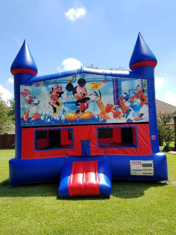Mickey Mouse Club Bounce House with Basketball Goal