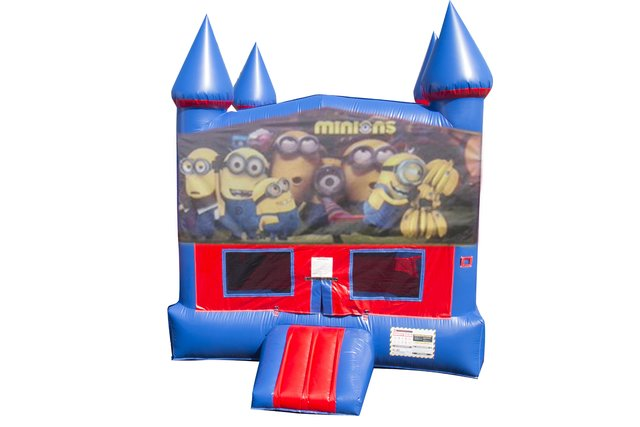 Minions Bounce House with Basketball Goal