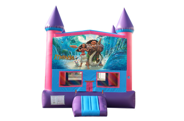 Moana Fun Jump With Basketball Goal (Pink)