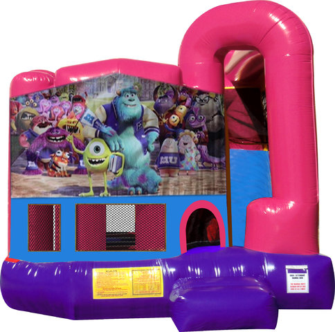 Monsters, Inc. 4N1 Bounce House Combo (Pink)