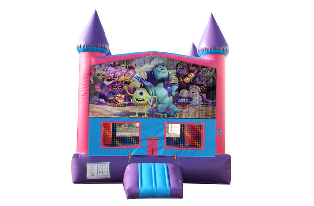 Monsters, Inc. Fun Jump With Basketball Goal (Pink)