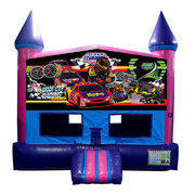 Stock Car Racing Fun Jump (Pink) with Basketball Goal