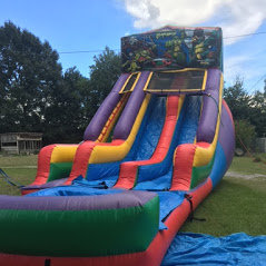 Ninja Turtles 18' Foot Double Lane Water Slide