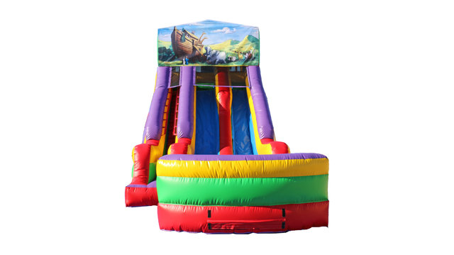 Noah's Ark 18' Double Lane Dry Slide