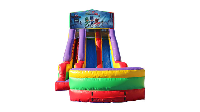 PJ Masks 18' Double Lane Dry Slide