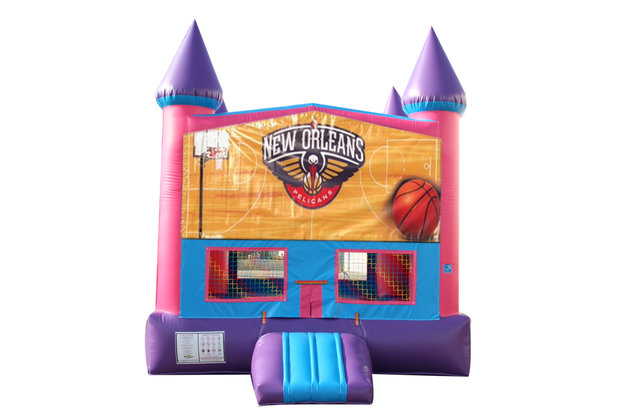 Pelicans Basketball Fun Jump With Basketball Goal (Pink)