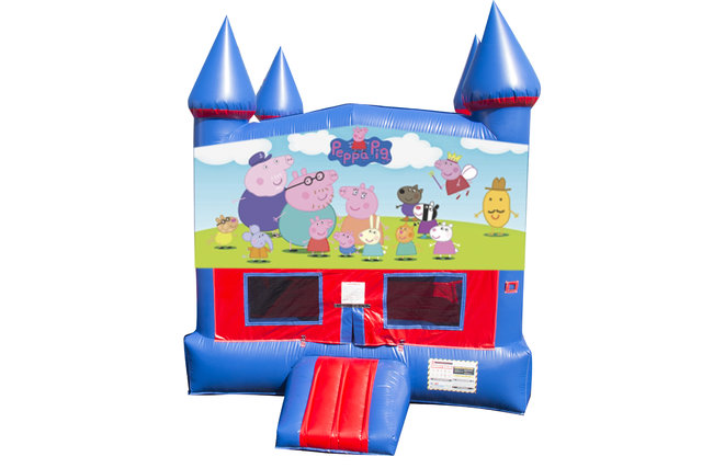 Peppa Pig Bounce House with Basketball Goal