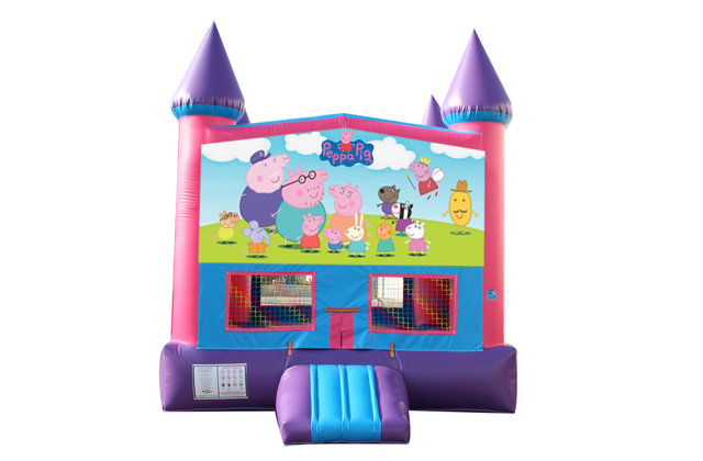 Peppa Pig Fun Jump With Basketball Goal (Pink)