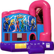 Power Rangers 4N1 Bounce House Combo (Pink)