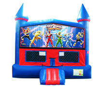 Power Rangers Bounce House with Basketball Goal