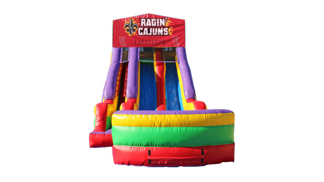 Ragin' Cajuns 18' Double Lane Dry Slide
