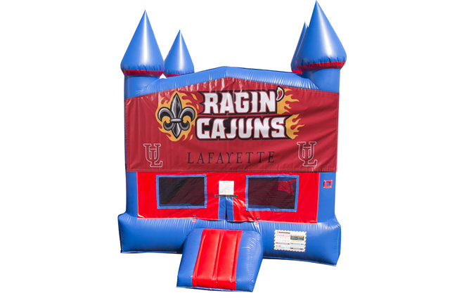 Ragin' Cajuns Bounce House With Basketball Goal
