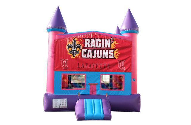 Ragin' Cajuns Fun Jump With Basketball Goal (Pink)