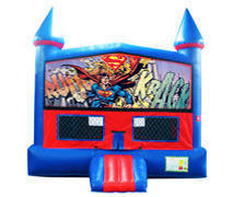 Superman Bounce House with Basketball Goal
