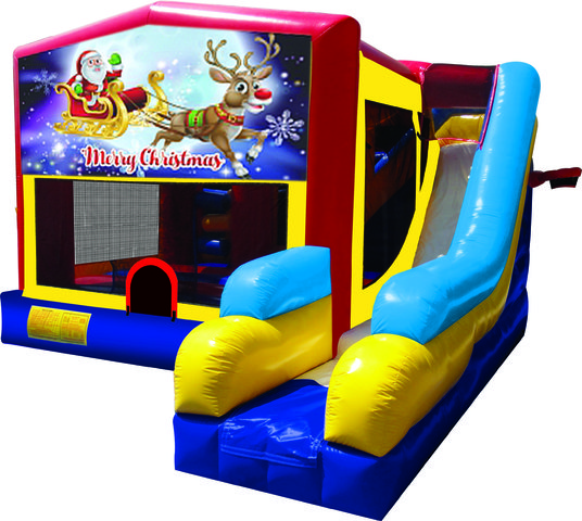 Santa and Rudolph 7N1 Inflatable Combo Fun Jump