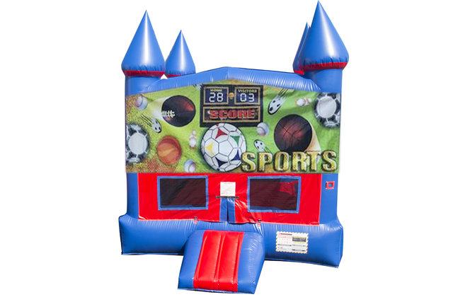 Sports USA Bounce House With Basketball Goal