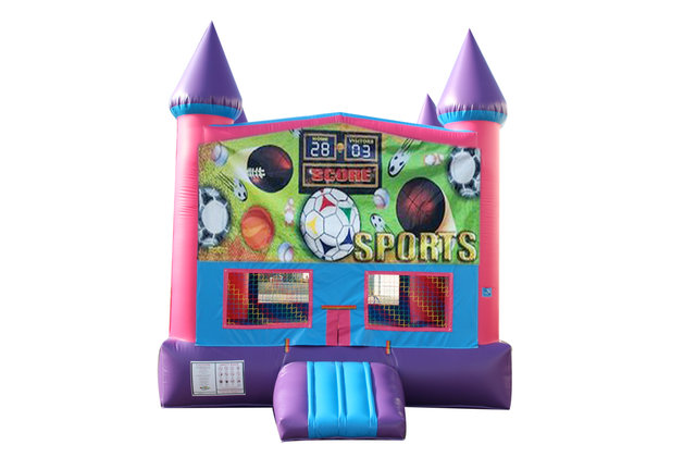Sports USA Fun Jump With Basketball Goal (Pink)