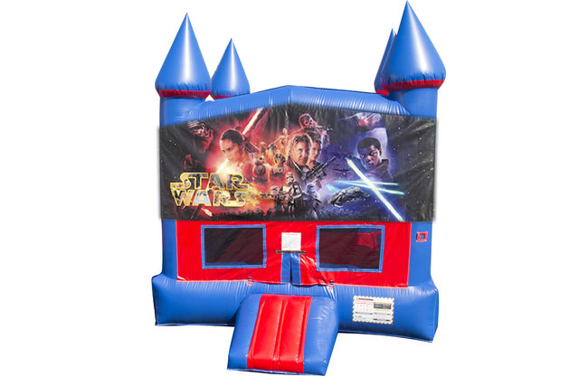 Star Wars Bounce House With Basketball Goal