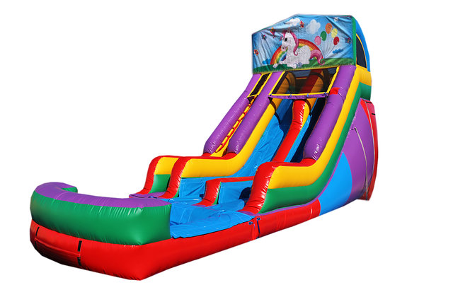 Unicorn 18' Double Lane Water Slide
