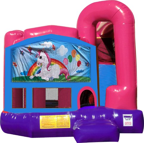 Unicorn 4N1 Bounce House Combo (Pink)