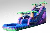 A 16' Purple Crush Water Slide With Pool