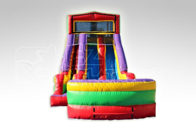 Monster Truck Module Double Lane Waterslide Bounce House
