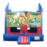 Winnie The Pooh Bounce House with Basketball Goal