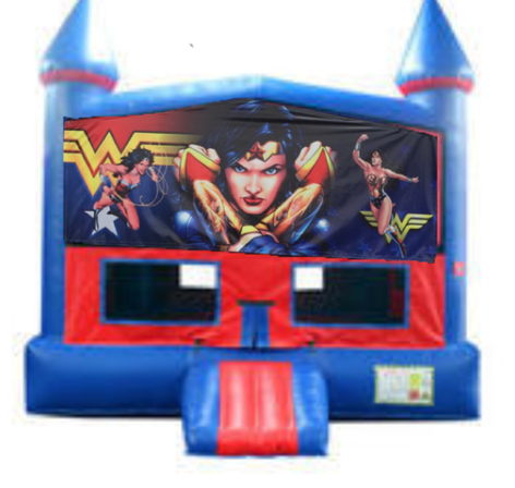 Wonder Woman Bounce House with Basketball Goal