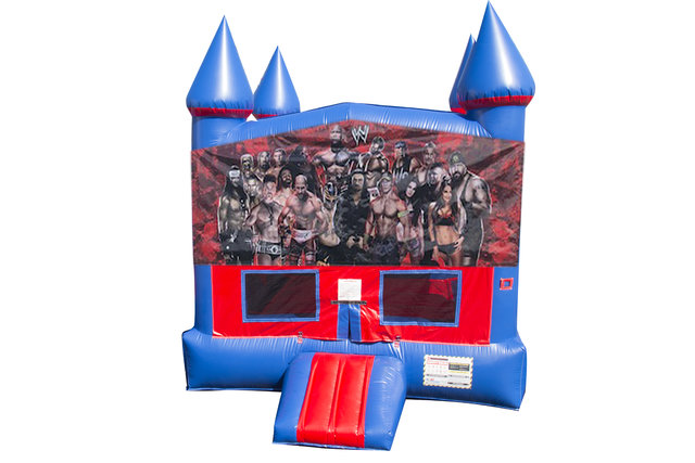 Wrestlers Bounce House With Basketball Goal