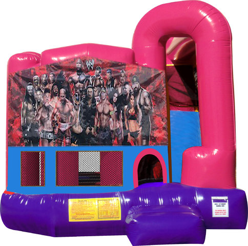 Wrestlers 4N1 Bounce House Combo (Pink)