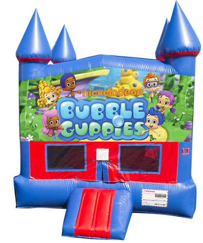 Bubble Guppies Bounce House with Basketball Goal