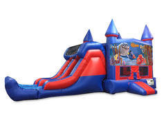 Finding Nemo 7' Double Lane Dry Slide Bounce House Combo