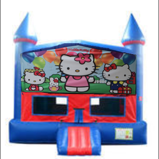 Hello Kitty Bounce House with Basketball Goal