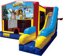 Madagascar 7N1 Inflatable Combo Fun Jump