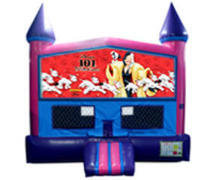 Dalmations 101 Bounce House (Pink) with Basketball Goal