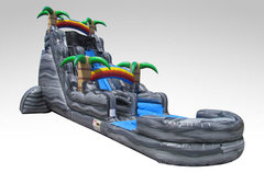 A 22' Boulder Springs Water Slide With Pool