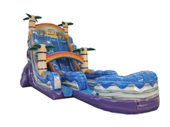 22' Tiki Plunge Double Lane Water Slide With Pool