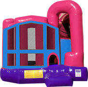 Frozen 4N1 Inflatable Combo Fun Jump (Pink)