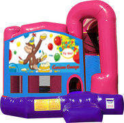 Curious George 4N1 Inflatable Combo Fun Jump (Pink)