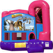 Madagascar 4N1 Inflatable Combo Fun Jump (Pink)