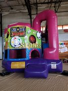 Sports 4N1 Inflatable Combo Fun Jump (Pink)