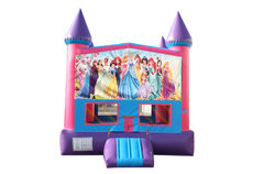 All Disney Princesses Fun Jump With Basketball Goal (Pink)