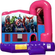 Avengers 4N1 Bounce House Combo (Pink)