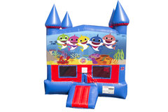 Baby Shark Bounce House with Basketball Goal