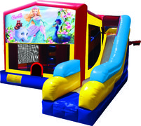 Barbie 7N1 Bounce & Slide Combo